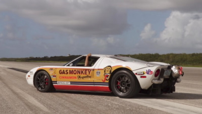 Johnny Bohmer drives his modified Ford GT to 292 miles per hour