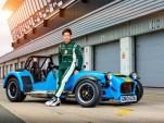Kamui Kobayashi and the 2014 Caterham 620R