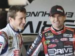 Kasey Kahne and Jeff Gordon share a laugh - NASCAR photo