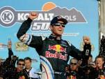 Kasey Kahne celebrates his win at Phoenix International Raceway. Image via NASCAR.