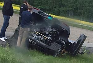 "Koenigsegg Agera RS ""Gryphon"" crash on May 17, 2018 - Image via Teknikens Värld"