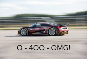 Koenigsegg is ready to set a 0-400-0 time of its own