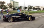 LaFerrari Nearly Powerslides Right Into Oncoming Traffic: Video