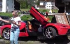 LaFerrari crashes into parked car, winds up stuck on a rock