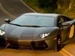 Lamborghini Aventador LP 700-4 on the set of Transformers 4 movie