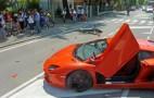 Lamborghini Aventador Crashes Into Motorbike In Italy