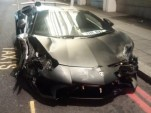 Lamborghini Aventador SV crashes in London