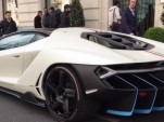 Lamborghini Centenario spied on the streets of Paris