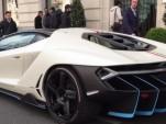 Lamborghini Centenario spied on the streets of Paris