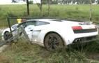 Groom Crashes Lamborghini Gallardo Hire Car
