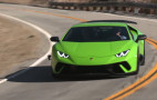 Jay Leno gets a long look at the Lamborghini Huracán Performante