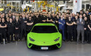 Lamborghini Huracán number 10,000 rolls off the assembly line in Sant'Agata Bolognese