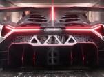 Lamborghini Veneno loaded into a very tight-fitting truck