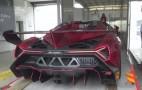 Cramming A $4.5M Lamborghini Veneno Into A Transport Truck: Video