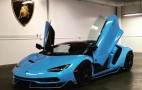 The fourth Lamborghini Centenario has landed in the US and it's baby blue