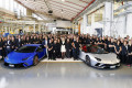 Lamborghini celebrates the manufacture of its 7,000th Aventador and 9,000th Huracán