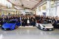 Lamborghini celebrates the manufacture of its 7,000th Aventador and 9,000th Huracán