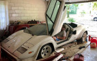 Neglected Lamborghini Countach gathering dust in grandma's garage