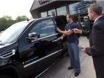 Lance Treankler receives his replacement Certified Pre-owned 2008 Escalade (source: gm)