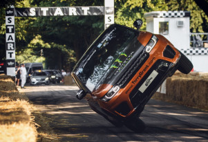 Land Rover sets world record with Range Rover Sport SVR on two wheels