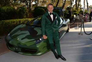 Lapo Elkann and his custom Ferrari 458 Italia