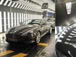 Last Aston Martin DB9s undergo final inspection at plant in Gaydon, England