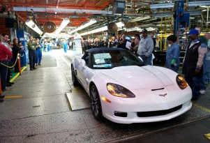 Last C6 Chevrolet Corvette built at the car's plant in Bowling Green, Kentucky