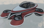 Italian firm Lazzarini Design shows retro flying car concept