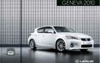 2011 Lexus CT 200h Brochure Leaked
