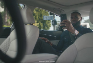 LeBron James and Intel team up for a spot on autonomous driving