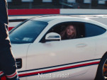 Lewis Hamilton and Gigi Hadid go for a drive in a Mercedes-AMG GT