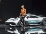 Lewis Hamilton introduces the Mercedes-AMG Project One at the 2017 Frankfurt Motor Show
