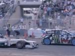 Lewis Hamilton versus Ken Block