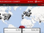 Lexus 'Check In for Charity' Facebook app