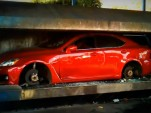 Lexus IS F gets crushed