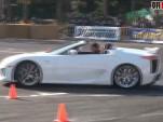 Lexus LFA Roadster at Japanese drift event