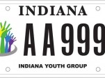LGBT equality license plate from Indiana, sponsored by the Indiana Youth Group