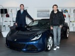 Lotus CEO Jean-Marc Gales presents new Exige S to customer