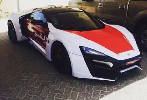 Lykan Hypersport joins the Abu Dhabi police force. Image via zero2turbo.