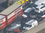 Major pile-up on New Kingsferry Bridge in Kent, England