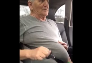 Man trapped in seat belt