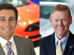 Mark Fields (left) and Alan Mulally