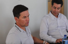 Mark Wahlberg discusses cars at his new Ohio dealership