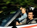 Mark Webber and Maria Sharapova in a Porsche 918 Spyder, screencap