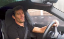 Mark Webber in a Porsche Mission E prototype