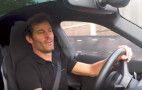 Mark Webber drives Porsche Mission E for first time