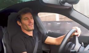 Mark Webber in a Porsche Mission E prototype