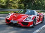Mark Webber takes delivery of a Porsche 918 Spyder