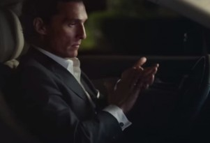 Matthew McConaughey in the Lincoln MKX