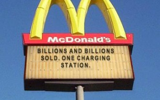 Fries, Apple Pie, Or 110 Adapter? McDonald's Adds Charging Stations For Hybrids And EVs